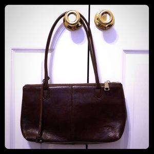 Hobo brown leather shoulder bag